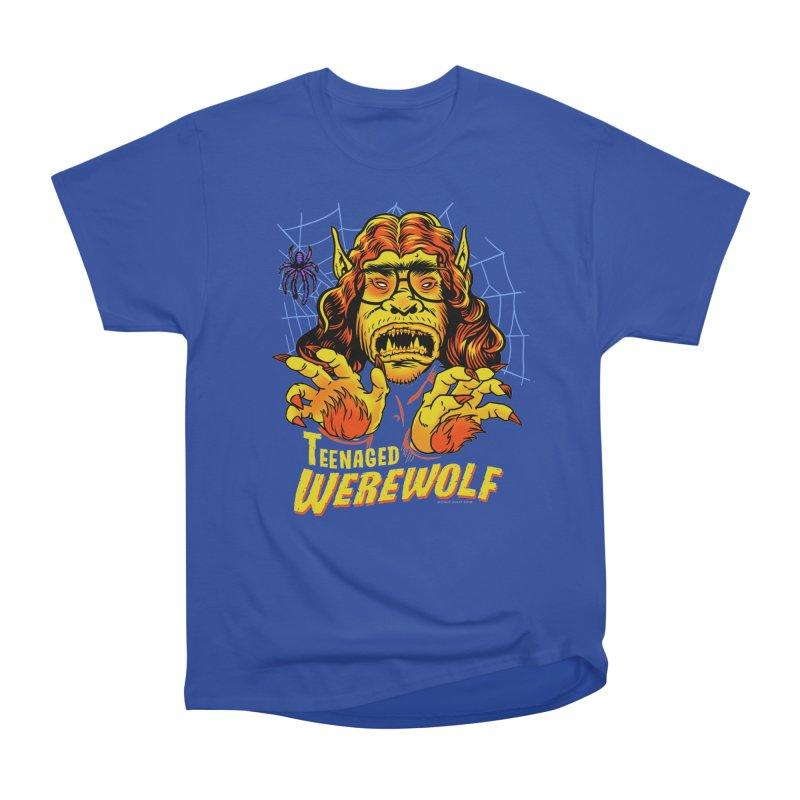 Teenaged Werewolf - vintage style adolescent creep Men's T-Shirt by Cheap Chills Fan Club