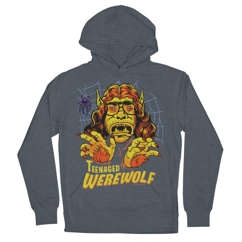 Teenaged Werewolf - vintage style adolescent creep Women's French Terry Pullover Hoody by Cheap Chills Fan Club