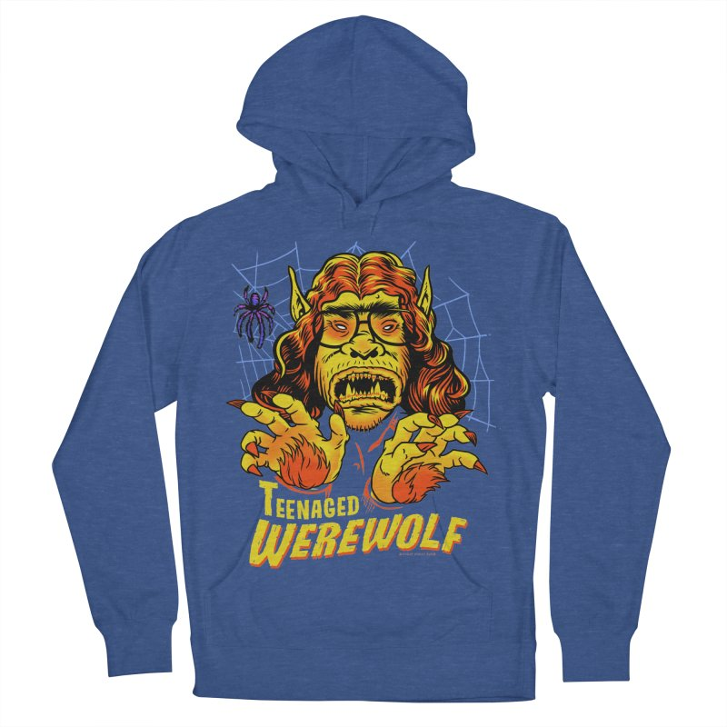 Teenaged Werewolf - vintage style adolescent creep Men's French Terry Pullover Hoody by Cheap Chills Fan Club