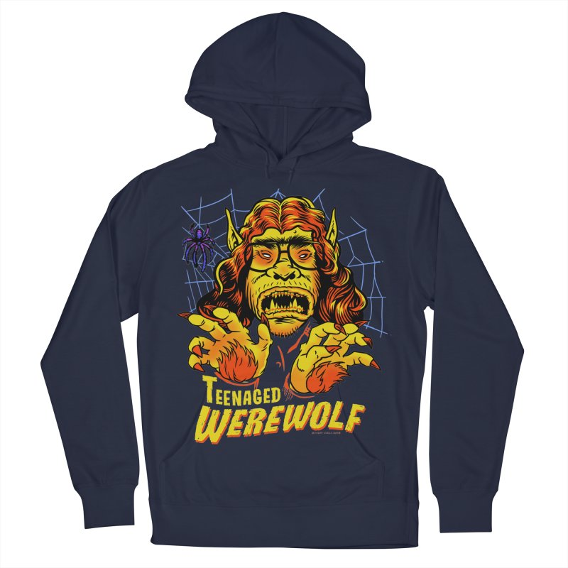 Teenaged Werewolf - vintage style adolescent creep Men's Pullover Hoody by Cheap Chills Fan Club