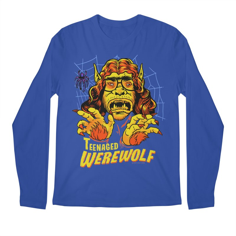 Teenaged Werewolf - vintage style adolescent creep Men's Regular Longsleeve T-Shirt by Cheap Chills Fan Club