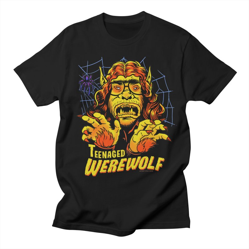 Teenaged Werewolf - vintage style adolescent creep Men's Regular T-Shirt by Cheap Chills Fan Club