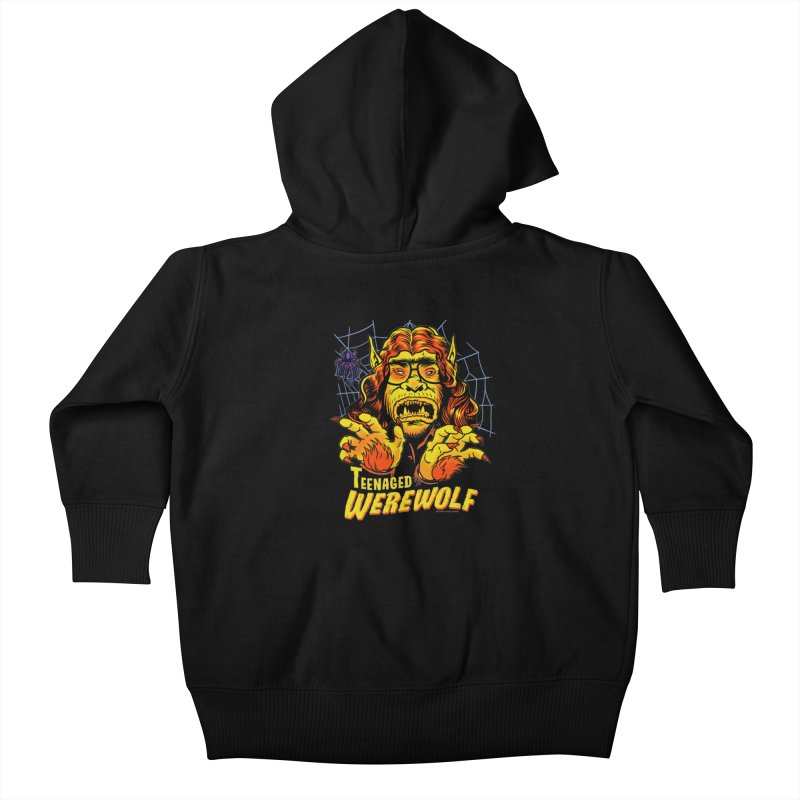 Teenaged Werewolf - vintage style adolescent creep Kids Baby Zip-Up Hoody by Cheap Chills Fan Club