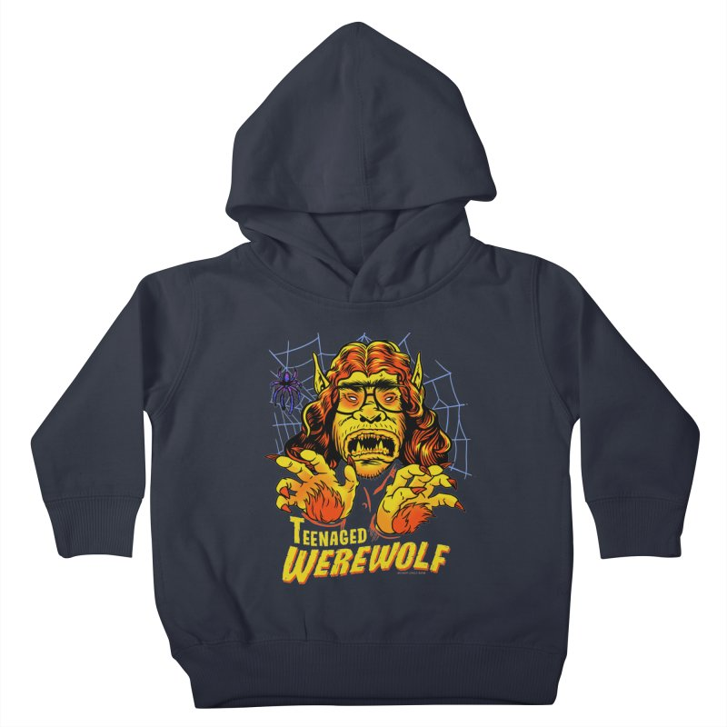 Teenaged Werewolf - vintage style adolescent creep Kids Toddler Pullover Hoody by Cheap Chills Fan Club