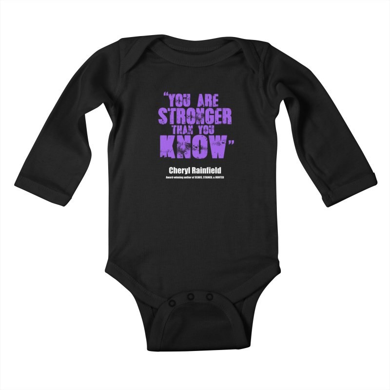 You Are Stronger Than You Know Kids Baby Longsleeve Bodysuit by CherylRainfield's Shop