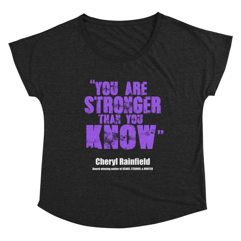 You Are Stronger Than You Know Women's Scoop Neck by CherylRainfield's Shop