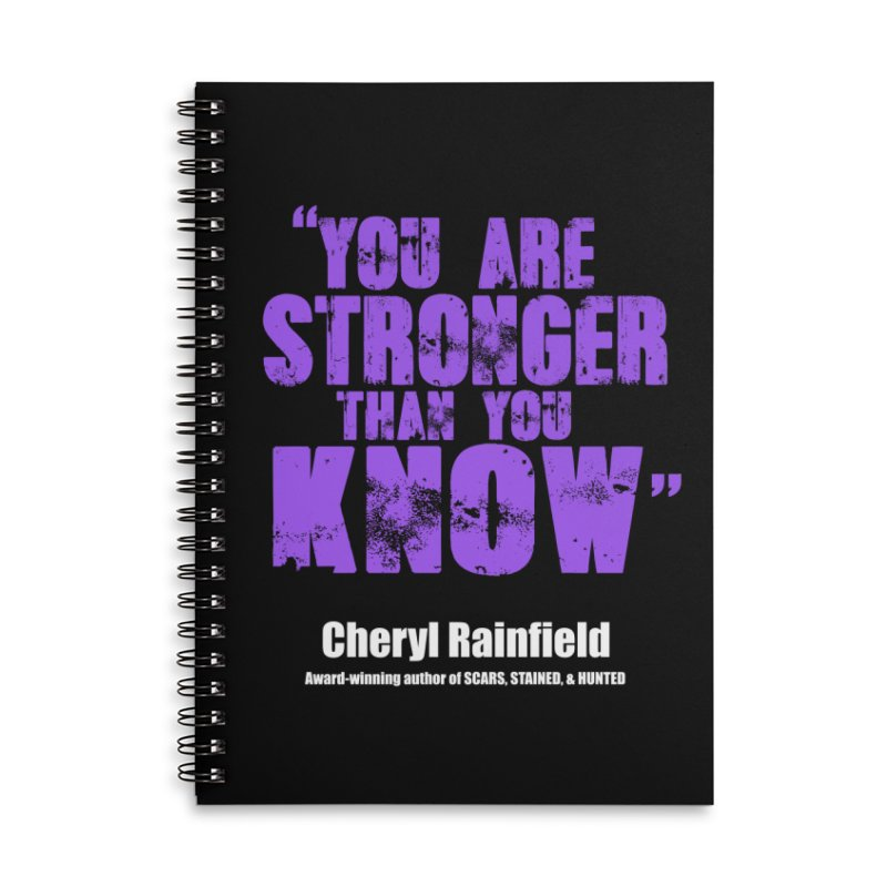 You Are Stronger Than You Know Accessories Lined Spiral Notebook by CherylRainfield's Shop