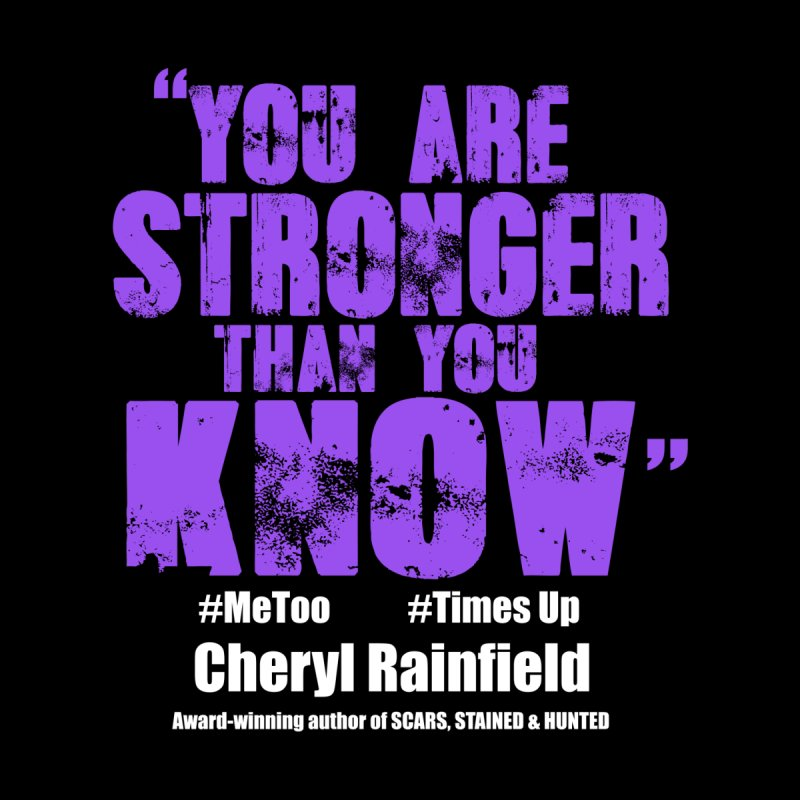You Are Stronger Than You Know #MeToo #TimesUp Women's V-Neck by CherylRainfield's Shop