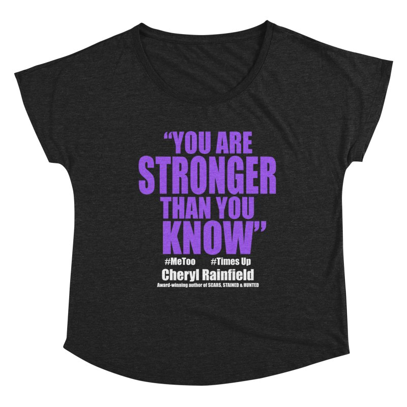 You Are Stronger Than You Know (plain font) #MeToo #TimesUp Women's Scoop Neck by CherylRainfield's Shop