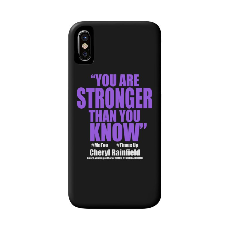 You Are Stronger Than You Know (plain font) #MeToo #TimesUp Accessories Phone Case by CherylRainfield's Shop