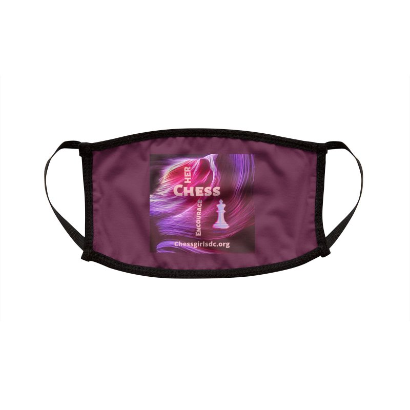 Purple swish Accessories Face Mask by Chess Girls DC's Spirit Shop