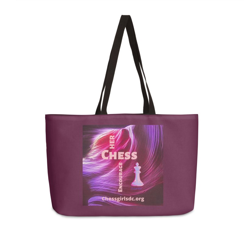 Purple swish Accessories Bag by Chess Girls DC's Spirit Shop
