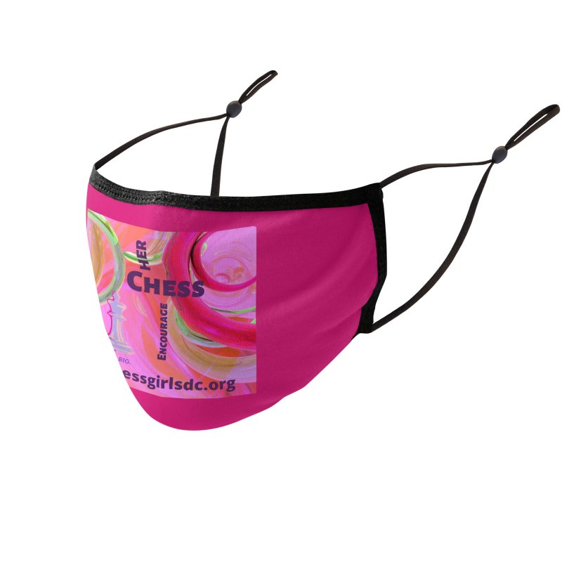 pink swish Accessories Face Mask by Chess Girls DC's Spirit Shop