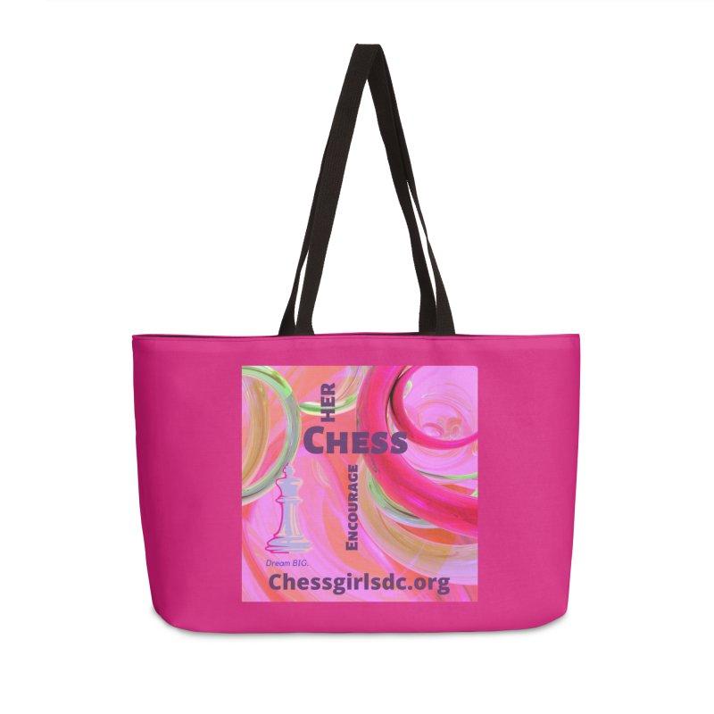 pink swish Accessories Bag by Chess Girls DC's Spirit Shop