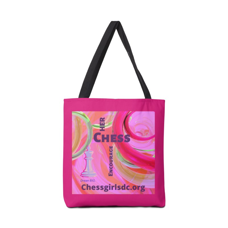 pink swish Accessories Bag by Chess Girls DC's Spirit Shop