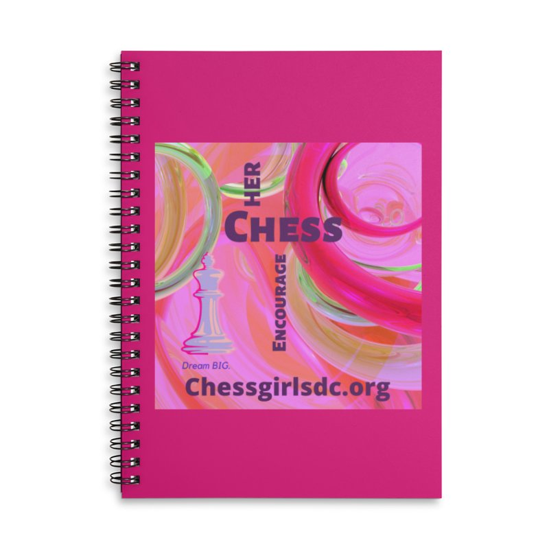 pink swish Accessories Notebook by Chess Girls DC's Spirit Shop