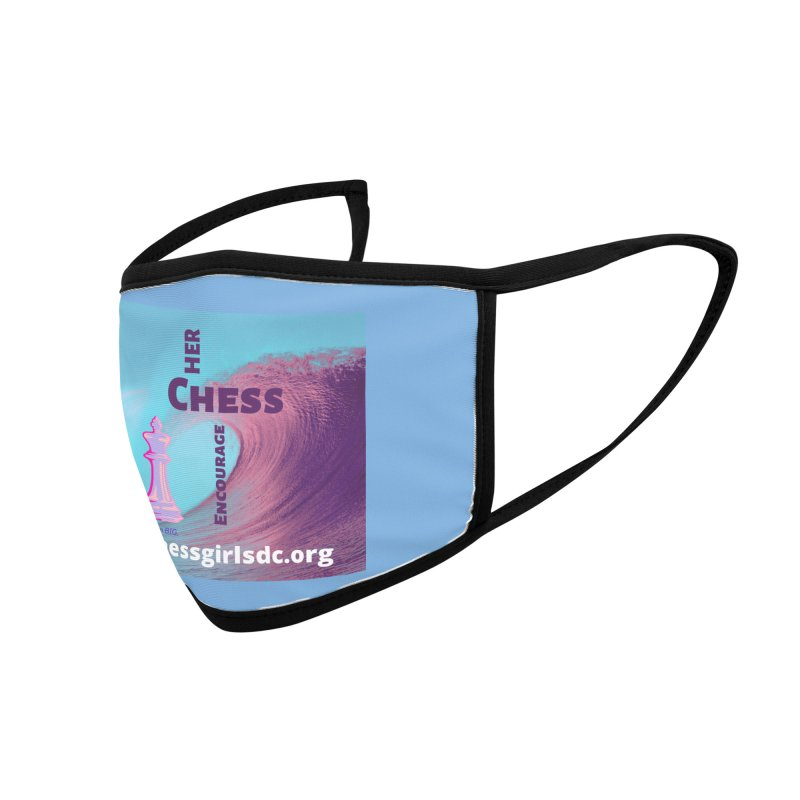 Purple wave Accessories Face Mask by Chess Girls DC's Spirit Shop