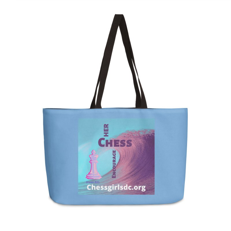 Purple wave Accessories Bag by Chess Girls DC's Spirit Shop