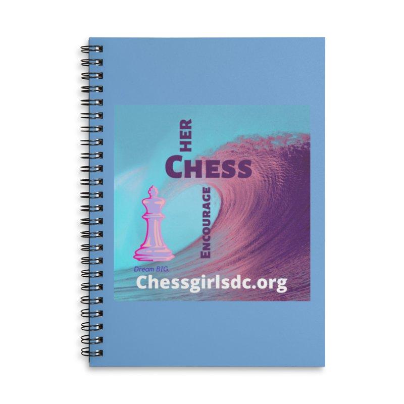 Purple wave Accessories Notebook by Chess Girls DC's Spirit Shop