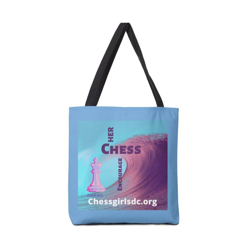 Purple wave Accessories Bag by Chess Girls DC's Spirit Shop