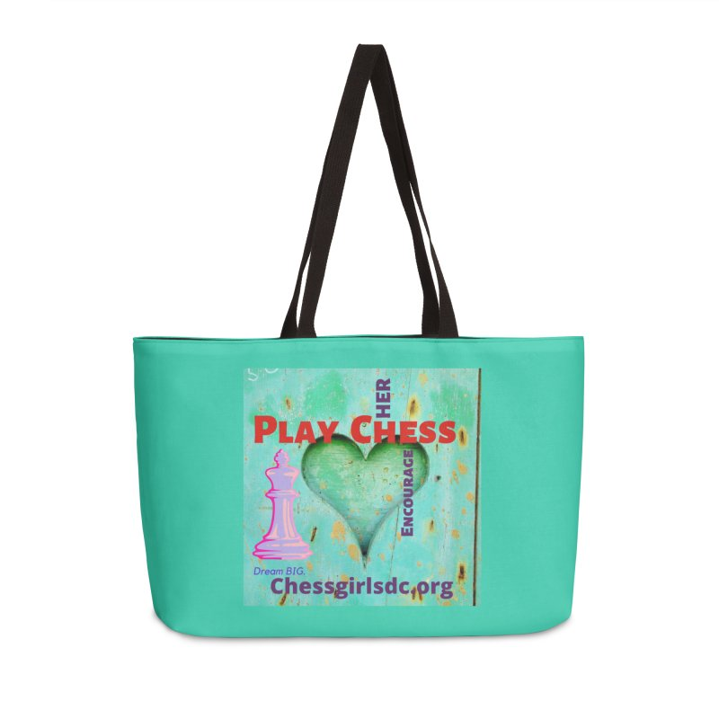 Teal heart Accessories Bag by Chess Girls DC's Spirit Shop