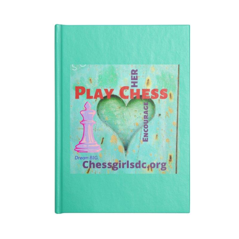 Teal heart Accessories Notebook by Chess Girls DC's Spirit Shop