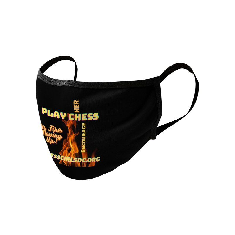 On Fire Accessories Face Mask by Chess Girls DC's Spirit Shop