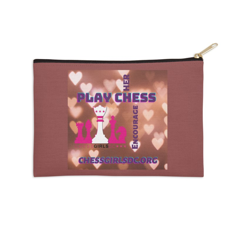 Love hearts Accessories Zip Pouch by Chess Girls DC's Spirit Shop