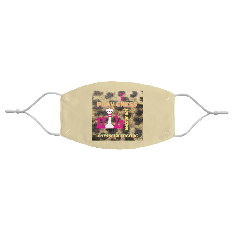 Crazy animal print Accessories Face Mask by Chess Girls DC's Spirit Shop