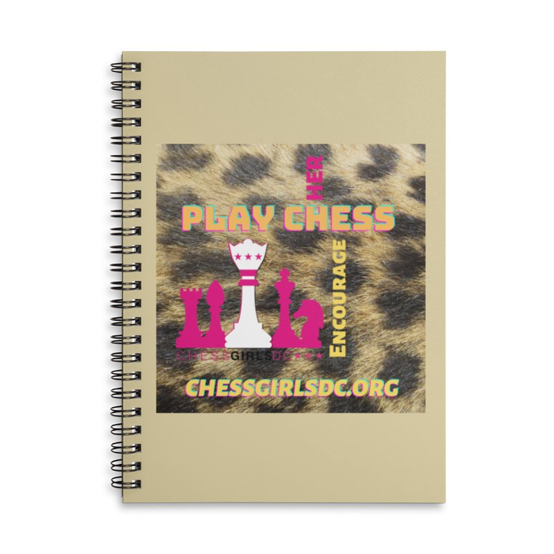 Crazy animal print Accessories Notebook by Chess Girls DC's Spirit Shop