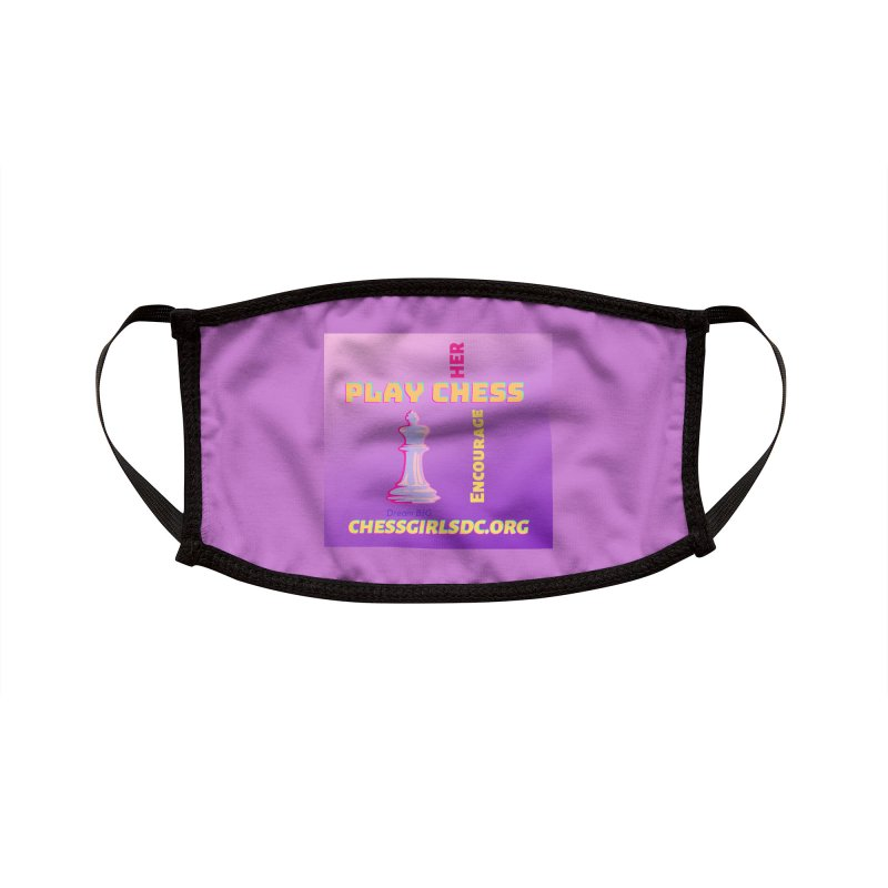 Lavender Accessories Face Mask by Chess Girls DC's Spirit Shop