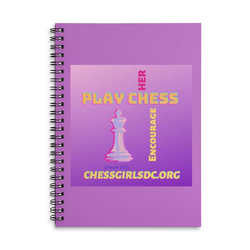 Lavender Accessories Notebook by Chess Girls DC's Spirit Shop