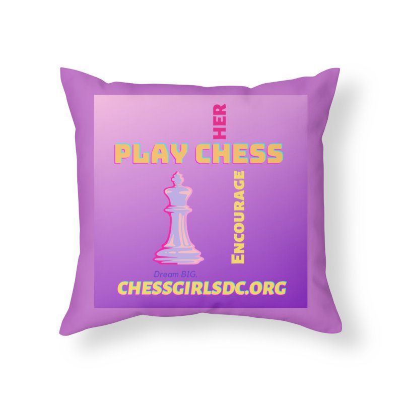 Lavender Home Throw Pillow by Chess Girls DC's Spirit Shop