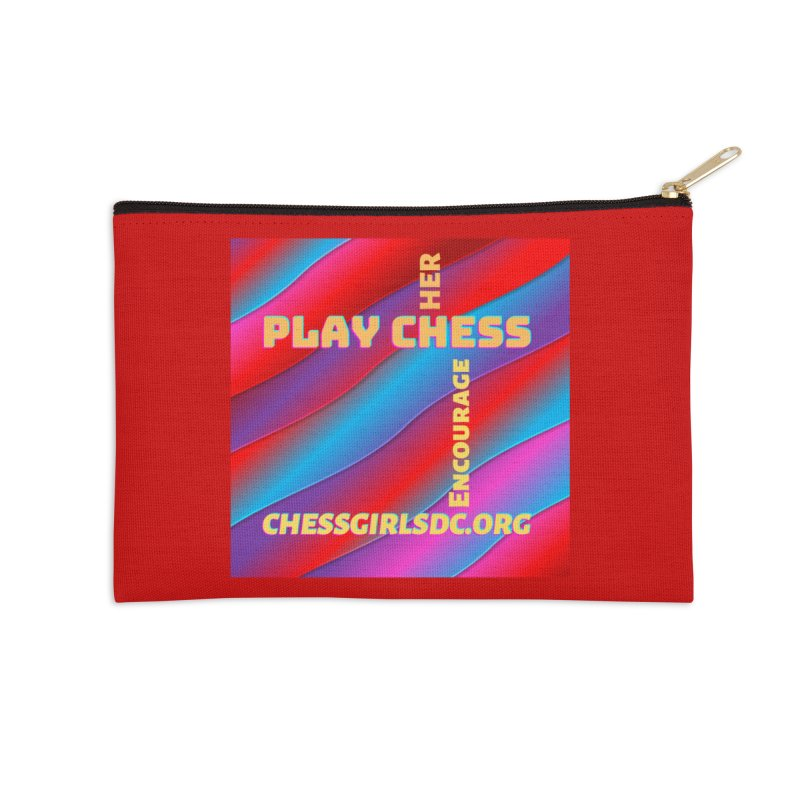 Red Accessories Zip Pouch by Chess Girls DC's Spirit Shop