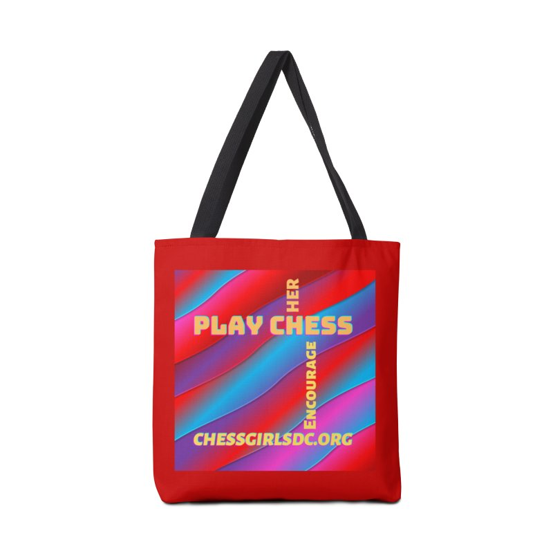 Red Accessories Bag by Chess Girls DC's Spirit Shop