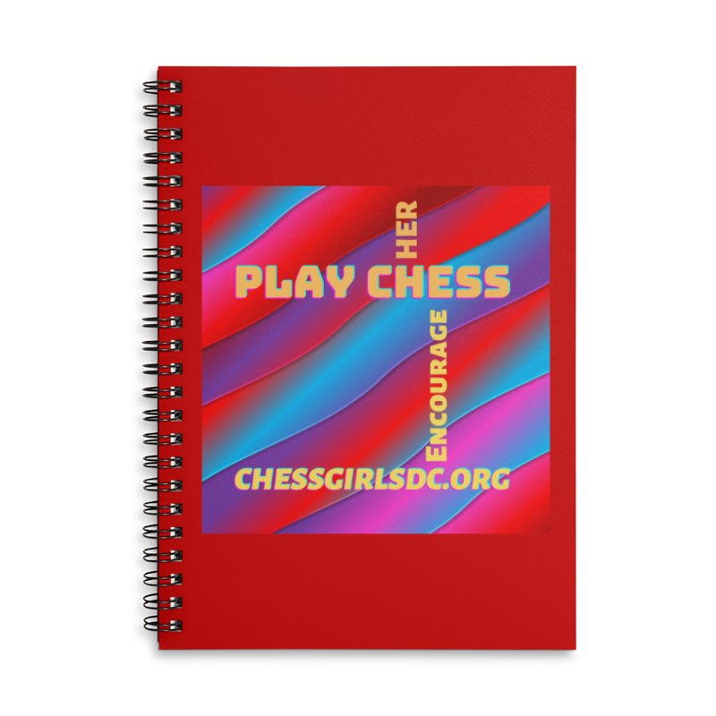 Red Accessories Notebook by Chess Girls DC's Spirit Shop