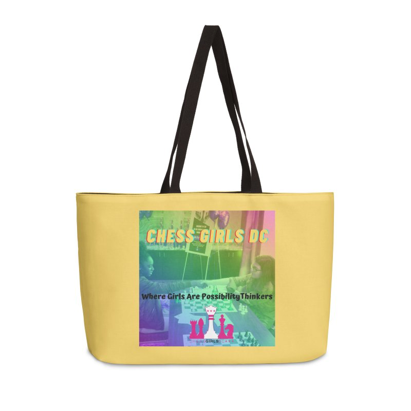 Rainbow Yellow Accessories Bag by Chess Girls DC's Spirit Shop