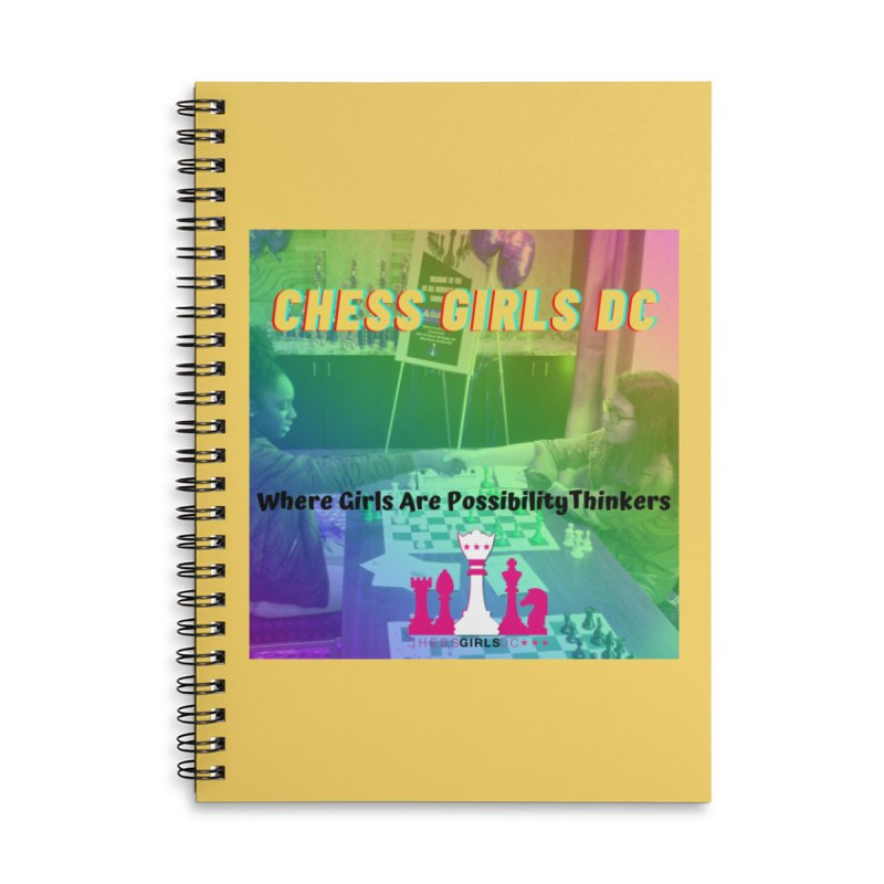 Rainbow Yellow Accessories Notebook by Chess Girls DC's Spirit Shop