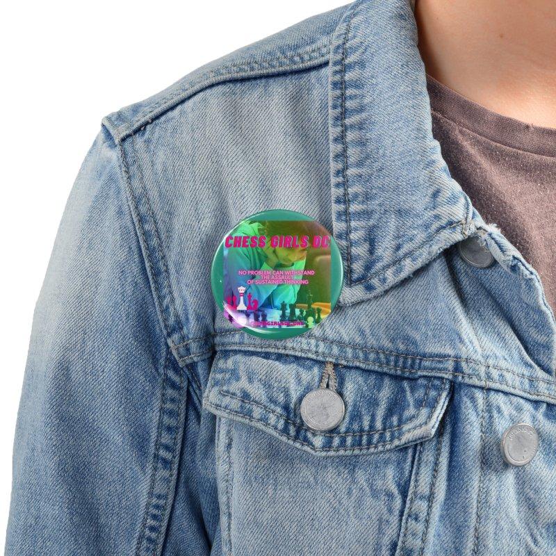 Rainbow Thinking Accessories Button by Chess Girls DC's Spirit Shop