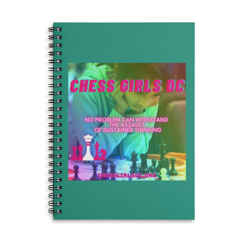 Rainbow Thinking Accessories Notebook by Chess Girls DC's Spirit Shop