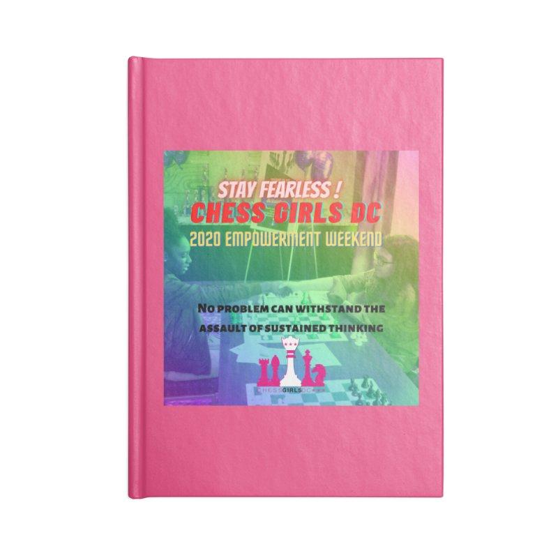 2020 Girls Chess tournament Accessories Notebook by Chess Girls DC's Spirit Shop