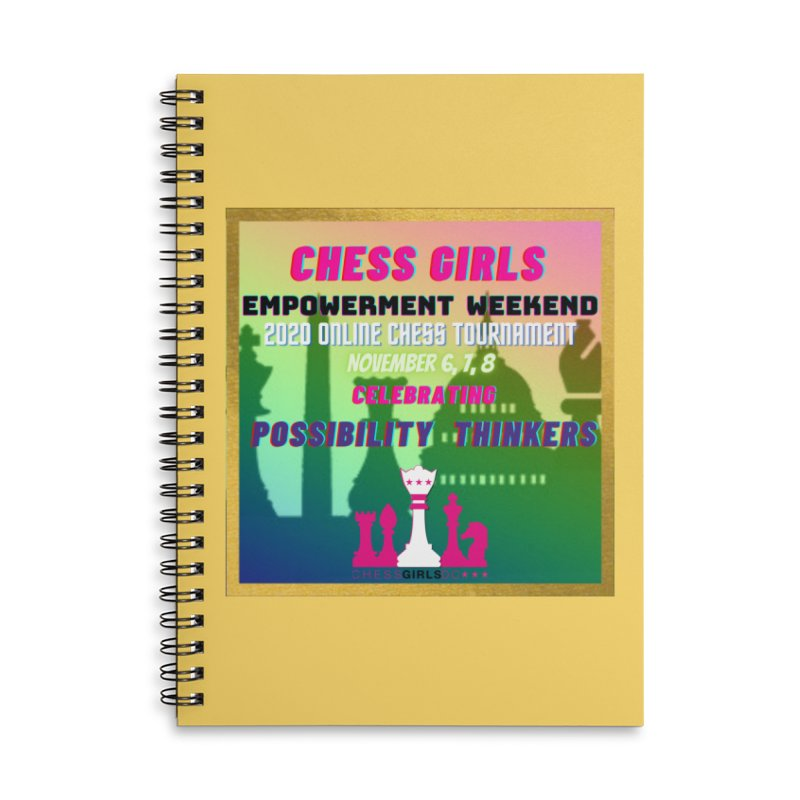 Celebrating All Girls Chess Accessories Notebook by Chess Girls DC's Spirit Shop