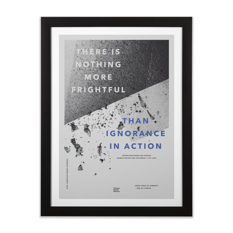 Veronica Corzo-Duchardt + Goethe Home Framed Fine Art Print by Chicago Design Museum