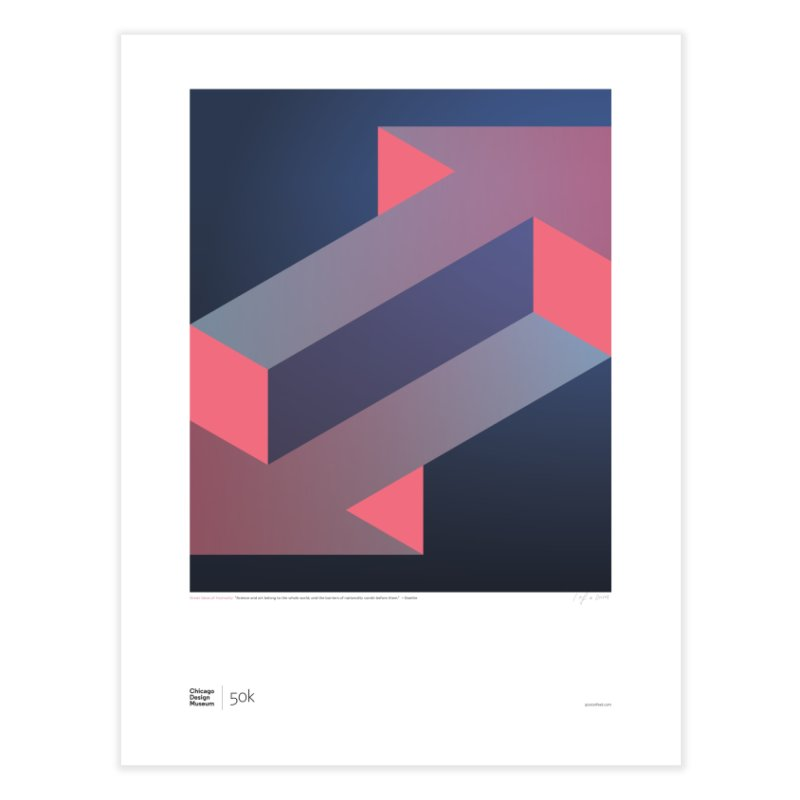 50k + Goethe Home Fine Art Print by Chicago Design Museum