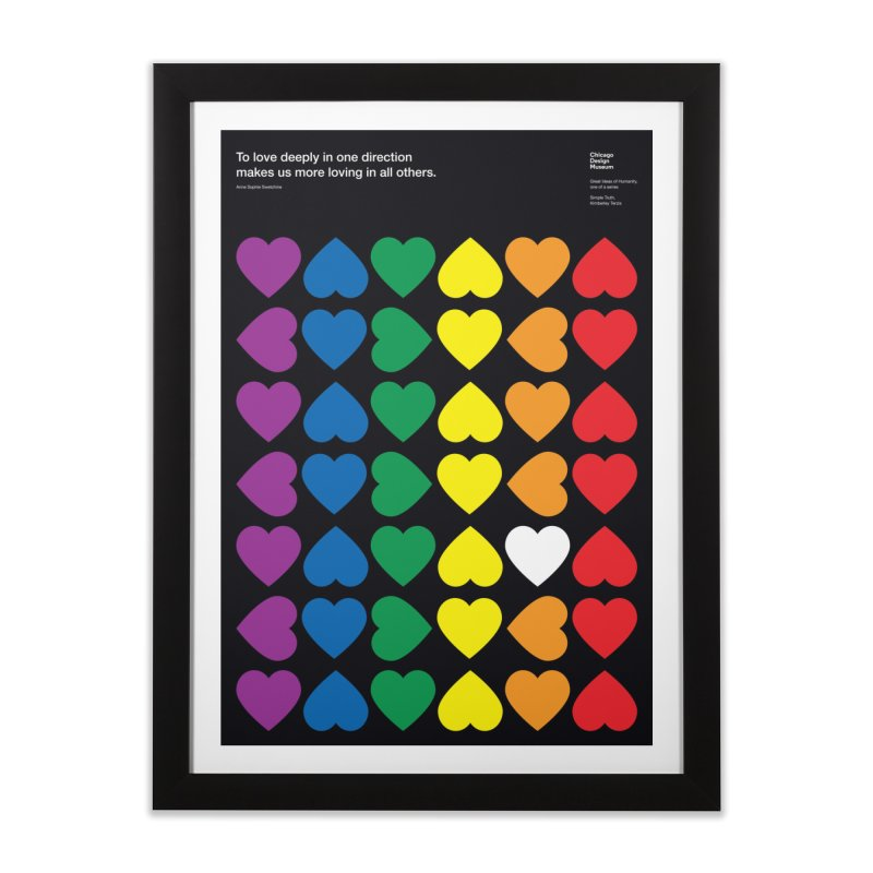To Love Deeply... Home Framed Fine Art Print by Chicago Design Museum