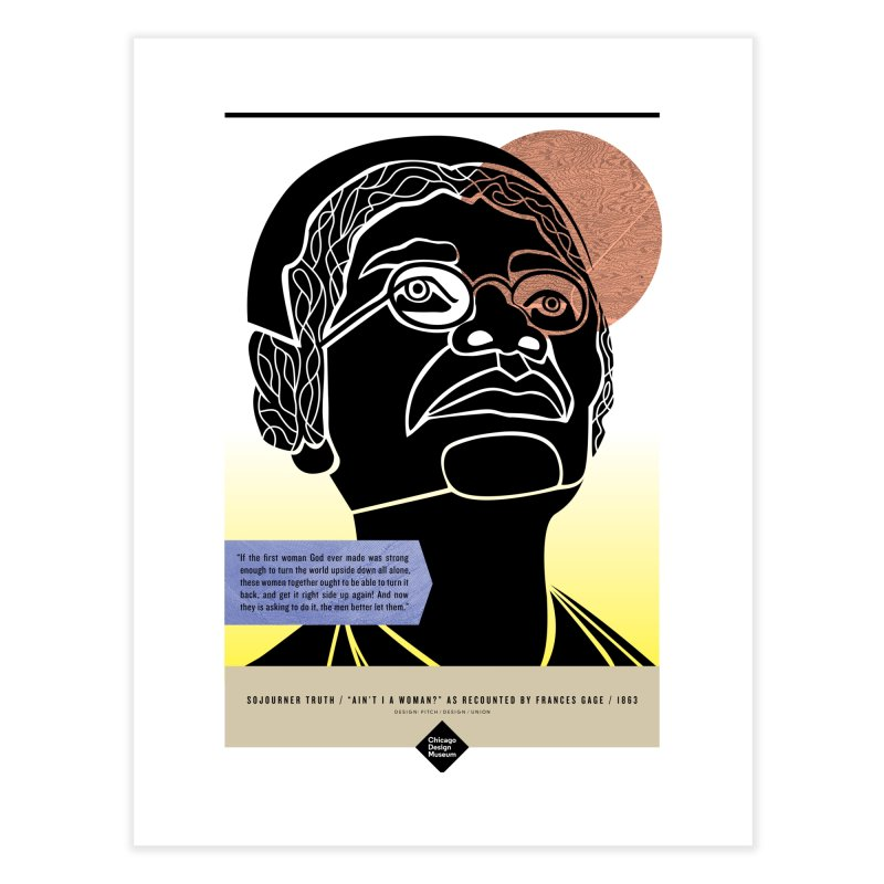 Margot Harrington + Sojourner Truth Home Fine Art Print by Chicago Design Museum