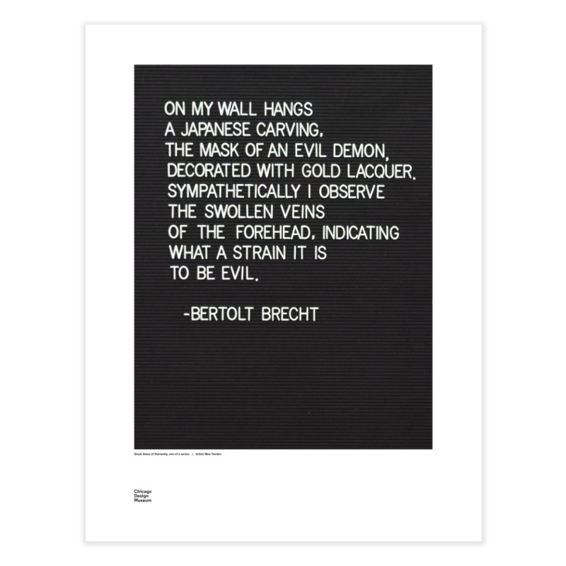 Max Temkin + Bertolt Brecht Home Fine Art Print by Chicago Design Museum