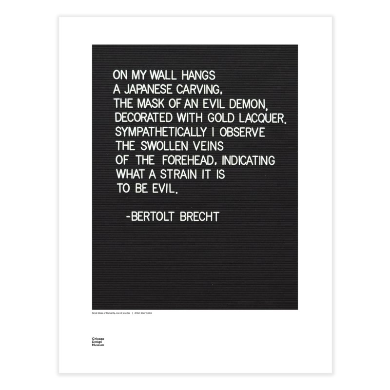 Max Temkin + Bertolt Brecht   by Chicago Design Museum