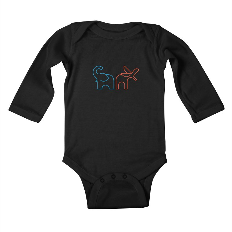 Bipartisanship by Matthew Terdich Kids Baby Longsleeve Bodysuit by Chicago Design Museum