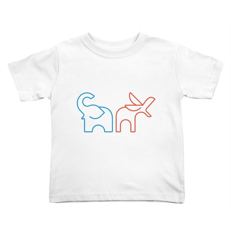 Bipartisanship by Matthew Terdich Kids Toddler T-Shirt by Chicago Design Museum